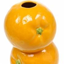 Vaso decoro arance vaso in ceramica decoro estivo vaso portafiori agrumi