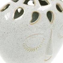 Vaso con crema per il viso, aspetto gres beige H18cm 1p