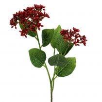 Ramo di bacche bacche di viburno rosso 54cm 4 pezzi