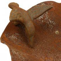 Bagno per uccelli decorativo, mangiatoia in acciaio inossidabile, bagno per uccelli antico Ø28cm H74cm