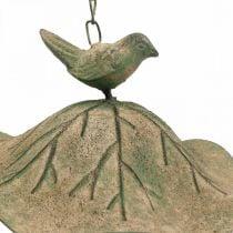 Vasca da bagno per uccelli da appendere in metallo Vasca da bagno per uccelli da giardino aspetto antico H28cm