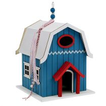 Birdhouse, Dekohaus Blue 21 cm x 30 cm
