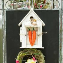 Birdhouse per appendere bianco H25.5cm