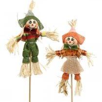 Spaventapasseri da decorare sul bastone decorazione autunnale 24pz
