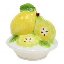 Barattolo con coperchio limone 15,5 cm