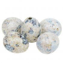 Uova di quaglia marmorizzate bianche 3,5 cm - 4 cm 60 pezzi