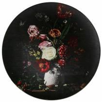 Piatto da parete con motivi floreali Ø33cm