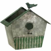 Casetta per gli uccelli in metallo per piantare H25,5cm