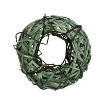 Ghirlanda di vimini piccola verde Ø28cm