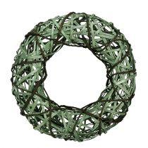 Ghirlanda di vimini verde medio Ø33cm