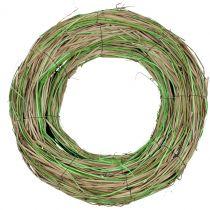 Corona di rafia con salice natura / verde Ø40cm