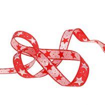 Nastro natalizio con stelle rosse 15mm 20m