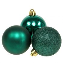 Pallina di natale verde smeraldo mix Ø6cm 10 pezzi