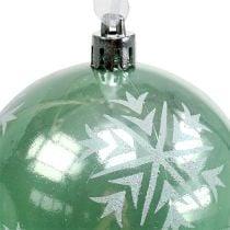 Palla di natale Ø8cm plastica verde chiaro 1pz