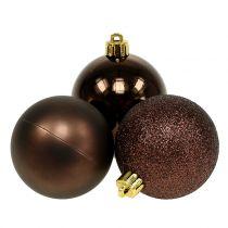 Christmas Ball Chocolate Brown Mix Ø6cm 10pcs
