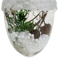 Addobbi natalizie Ghianda con neve Ø8cm 2 pezzi