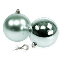 Pallina natalizia infrangibile verde chiaro assortita Ø10cm 4pz