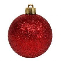 Christmas Ball Mix assortiti rosso Ø3,5cm - Ø5,5cm 30pcs