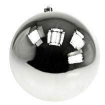Palla di Natale plastica grande argento Ø25cm