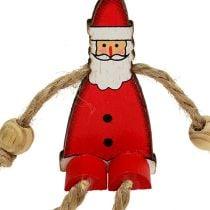 Figura di Babbo Natale seduto 6,5 cm rosso 12 pezzi