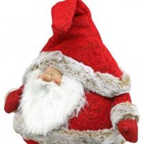 Figura decorativa sgabello bordo Babbo Natale Natale 28 × 22 × 88 cm