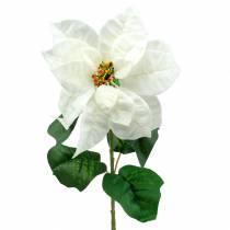 Stella di Natale fiore artificiale bianco 67cm
