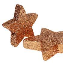 Stelle natalizie ramate glitter stelle cospargere decorazione 40p