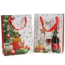 Confezione regalo di Natale 8 cm x 18 cm H24 cm set di 2