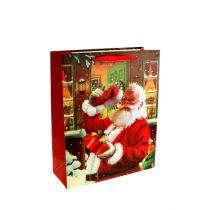 Sacchetto regalo con Babbo Natale 24 cm x 18 cm x 8 cm