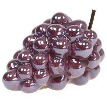 Uva in ceramica lilla 10 cm 2 pezzi