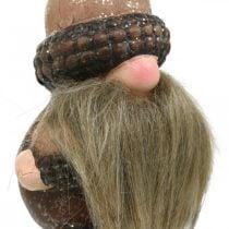 Spina decorativa coni e ghiande in ceramica Gnomo 8/8,5 cm 4 pezzi