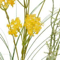 Fiori di campo giallo L60cm 3 pezzi