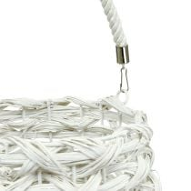 Lanterna intrecciata Ø20cm H50cm Bianco