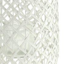 Lanterna con manico Ø25cm H62cm bianco