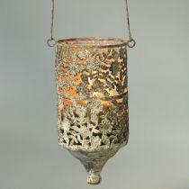 Filo per appendere luce metallo antico Ø10cm H21cm 2 pezzi