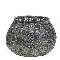 Lanterna Orient argento antico Ø13cm H9,5cm