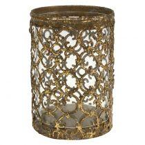 Lanterna oro antico Ø8cm H11,5cm 1p