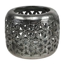 Windlight argento Ø11,5cm H9,5cm 1pz