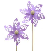 Mulino a vento Mini Viola Ø9cm 12 pezzi