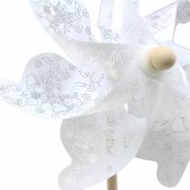 Mulino a vento bianco Ø30cm