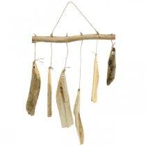 Decorazione di pesci marittimi, campanelli eolici in legno, decorazione in legno L50cm W30cm