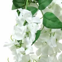 Ghirlanda Glicine Bianco 175 cm 2 pezzi