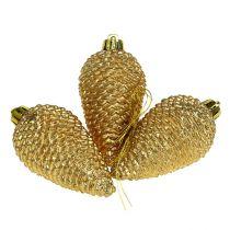 Coni in plastica oro chiaro 8 cm 6 pezzi da appendere