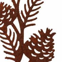 Tappo da giardino cono ramo in acciaio inox metallo H40 cm 4pz