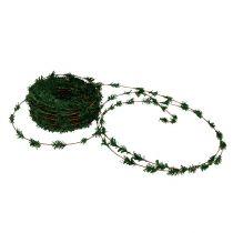 Ghirlanda di cedro mini verde con filo 27m