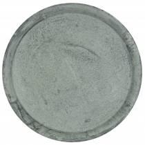 Vassoio per zinco Piatto per la decorazione della tavola Ø44cm A2,5cm