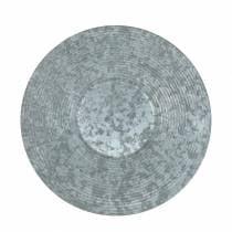 Piatto decorativo in zinco Ø35cm