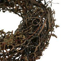 Ghirlanda di rami Ø25cm 2 pezzi. natura