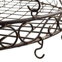 Vassoio decorativo per appendere Ø30cm marrone L45cm