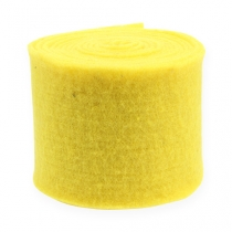 Nastro in feltro giallo 15 cm 5 m